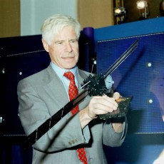 Roger Bonnet with Rosetta model