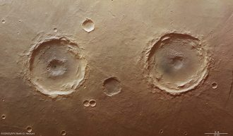 twin craters on mars