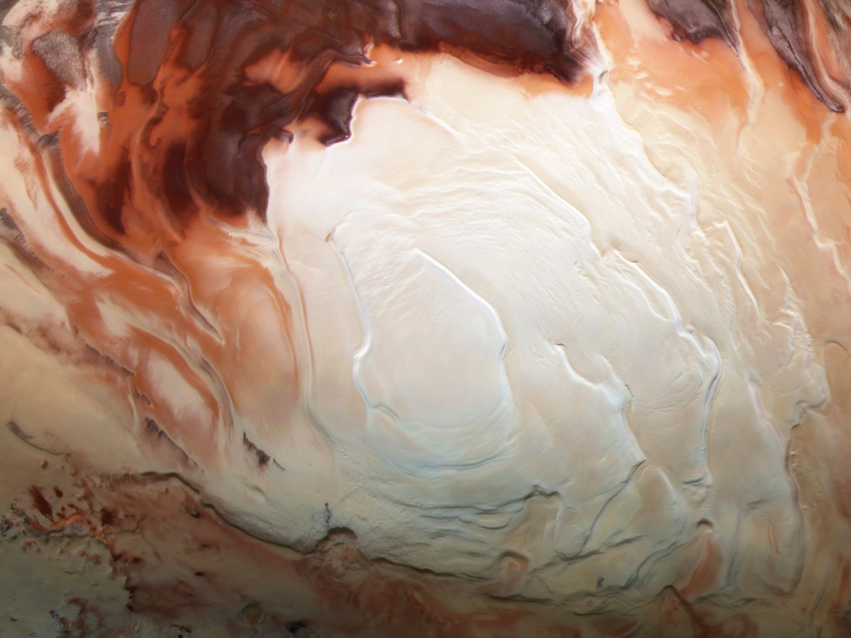 Mars south polar ice cap