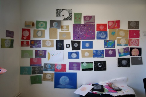 Lunar artwork at our Apollo Mission Day at The Hastings Academy