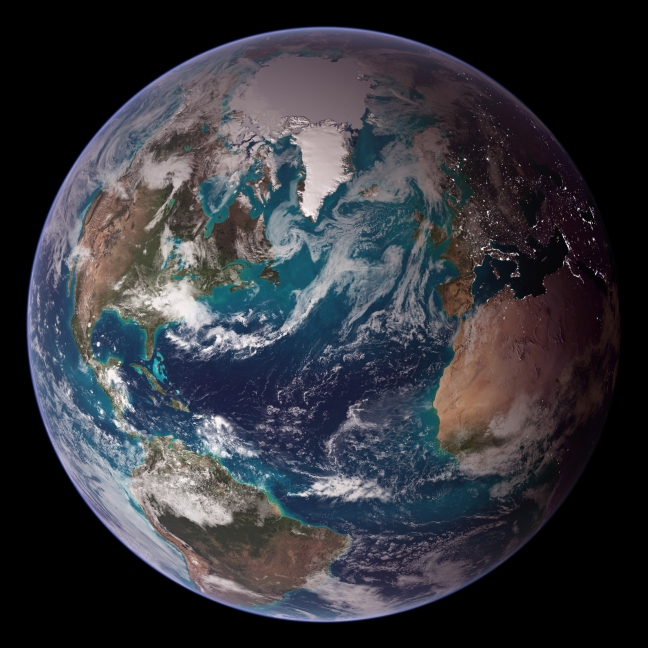 Earth. The blue marble.