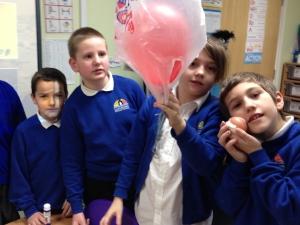 Year 5s making Mars landers at Castledown Primary School, Hastings