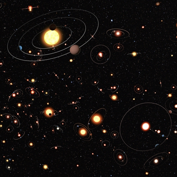 lots of solar systems