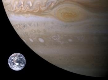Earth and Jupiter