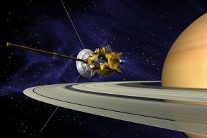 cassini spacecraft orbiting saturn