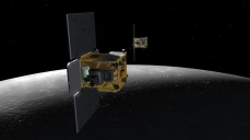 NASA's GRAIL satellites, Ebb and Flow, in orbit over the Moon