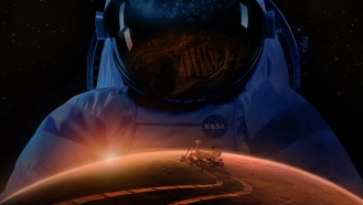 Man on Mars artists impression