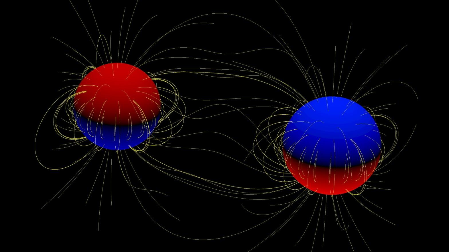 Magnetic binary stars