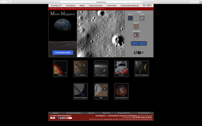 Moon Mappers citizen science project