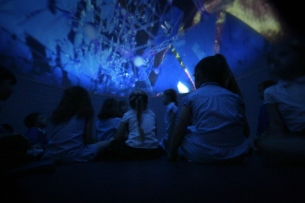 Planetarium show at Reydon Primary School, Suffolk