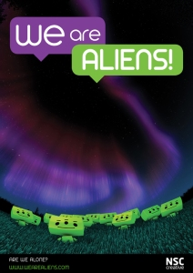 we are aliens poster