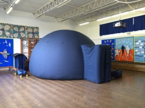 The planetarium at Bedmond School, Herts.