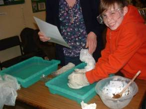 Making comets at one of our Comet Workshops