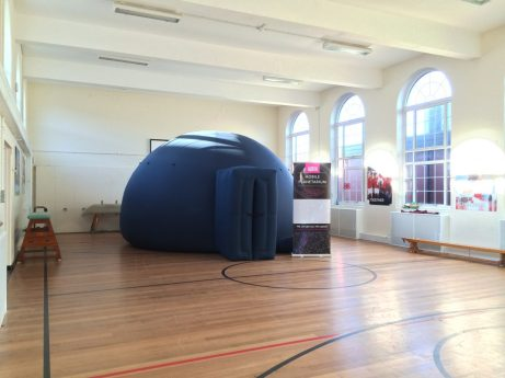 The planetarium at Danetree School, Ewell, Surrey
