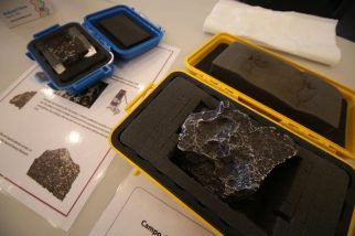 Real meteorite at our Apollo Mission Day