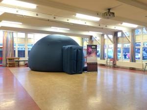The planetarium at Holt Farm school in Rochford, Essex