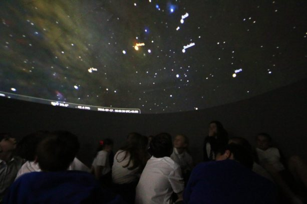 An interactive sky tour at Reydon Primary School, Suffolk