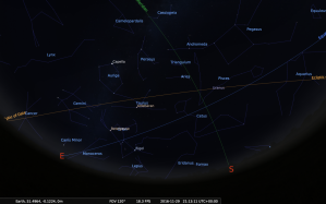 constellations in stellarium