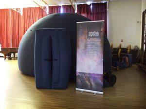 The planetarium at Sulivan Primary School, London