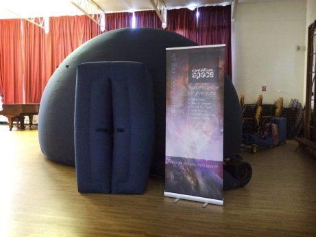 The planetarium at Sulivan Primary School, London