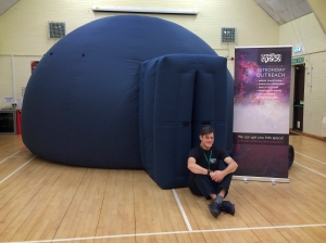 Will with the big blue dome at Westfield School in Westfield, East Sussex