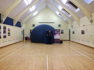 The big blue dome at Westfield School in Westfield, East Sussex