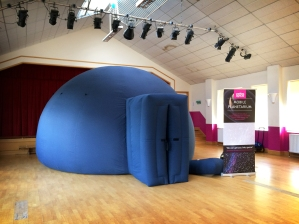 The travelling planetarium at Hazelwood School, Limpsfield