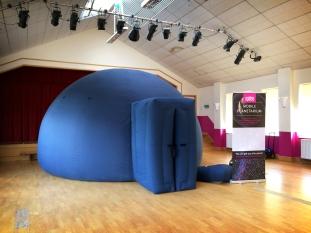 The travelling planetarium at Hazelwood School, Limpsfield
