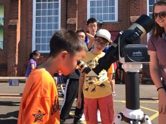 Solar viewing for Bucksmore Education summer school at King Edward's School, Wormley