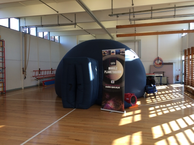 Mobile planetarium at Barry Primary, Northampton