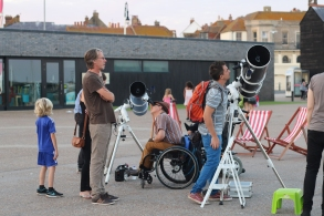 Astronomy outreach at One Giant Step event in Hastings