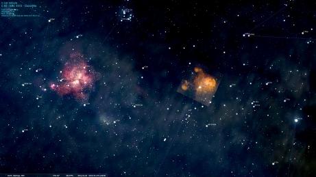 Carina Nebula in Stellarium