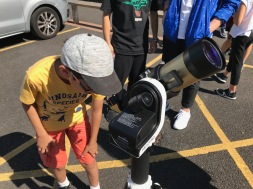 Solar observing with an h-alpha telescope
