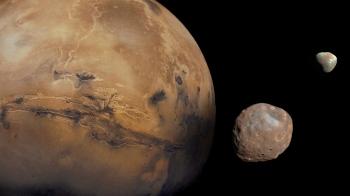 Mars, Phobos and Deimos