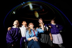 Inside the dome at Palmash School