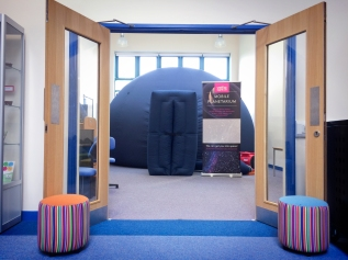 The pop-up planetarium at Blackwell Primary in EastGrinstead
