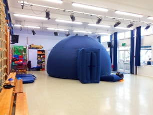 The planetarium at Chantry Community Primary School, Bexhill-on-Sea