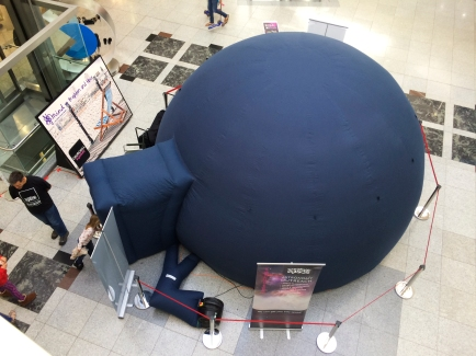 Pop-up planetarium for British Science Week at Churchill Square Shopping Centre, Brighton