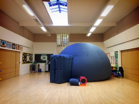 The big blue dome at Clore Shalom Jewish School in Shenley