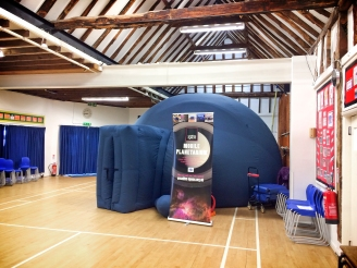 The planetarium at Elm Green Prep School in Little Baddow, Essex