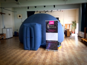 Travelling planetarium at Greenacres Primary, Eltham