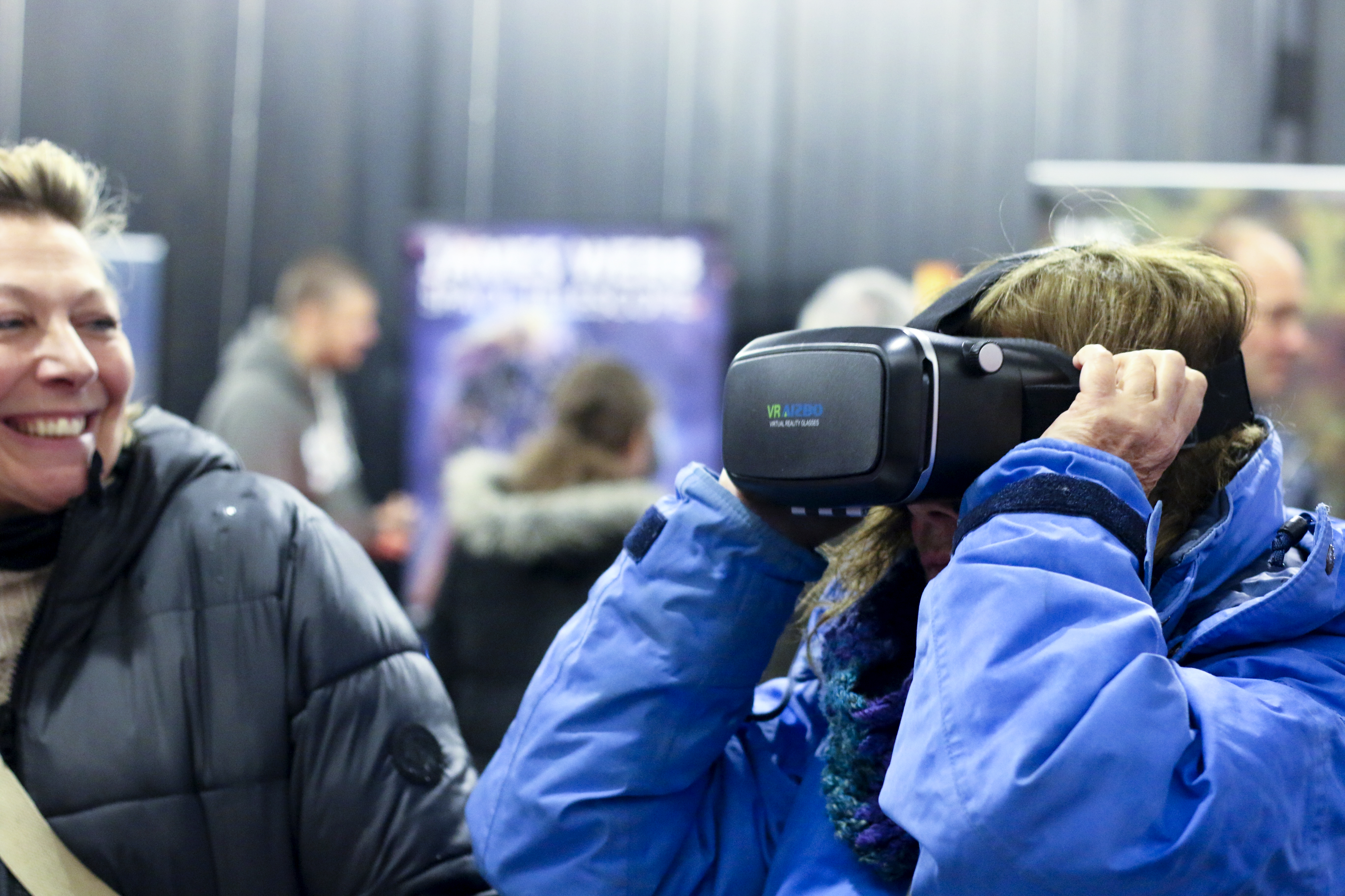 People using VR headsets at Space at The Stade, Hastings