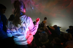 Inside the dome at the Kent International Jamboree
