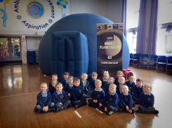 Reception Class outside the dome at Newington School, Ramsgate