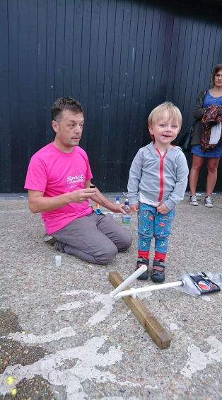 Rocket launching at Space@TheStade, Hastings