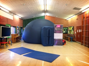 The travelling planetarium at Rydene Primary School, Basildon