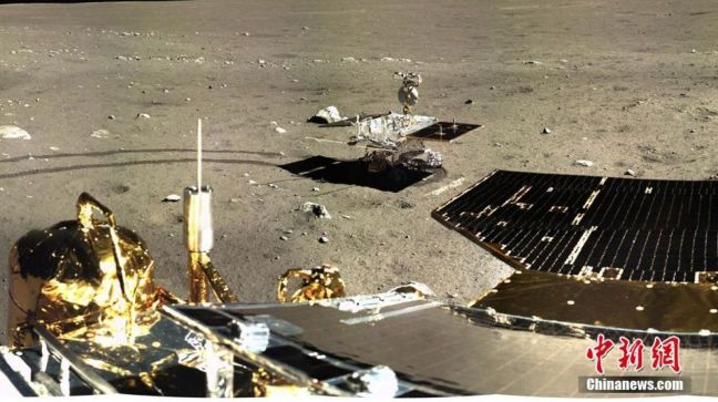 Change-3 on the surface of the Moon with the Yutu rover