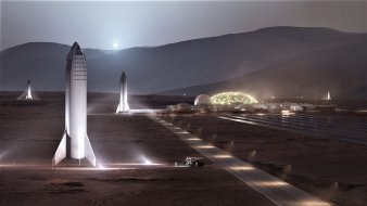 Elon Musk's vision of a future Mars colony