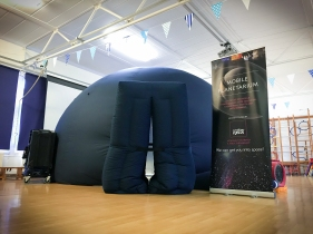 The mobile planetarium at Copperfield Academy in Northfleet