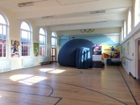 The planetarium at Danetree Primary School, Ewell